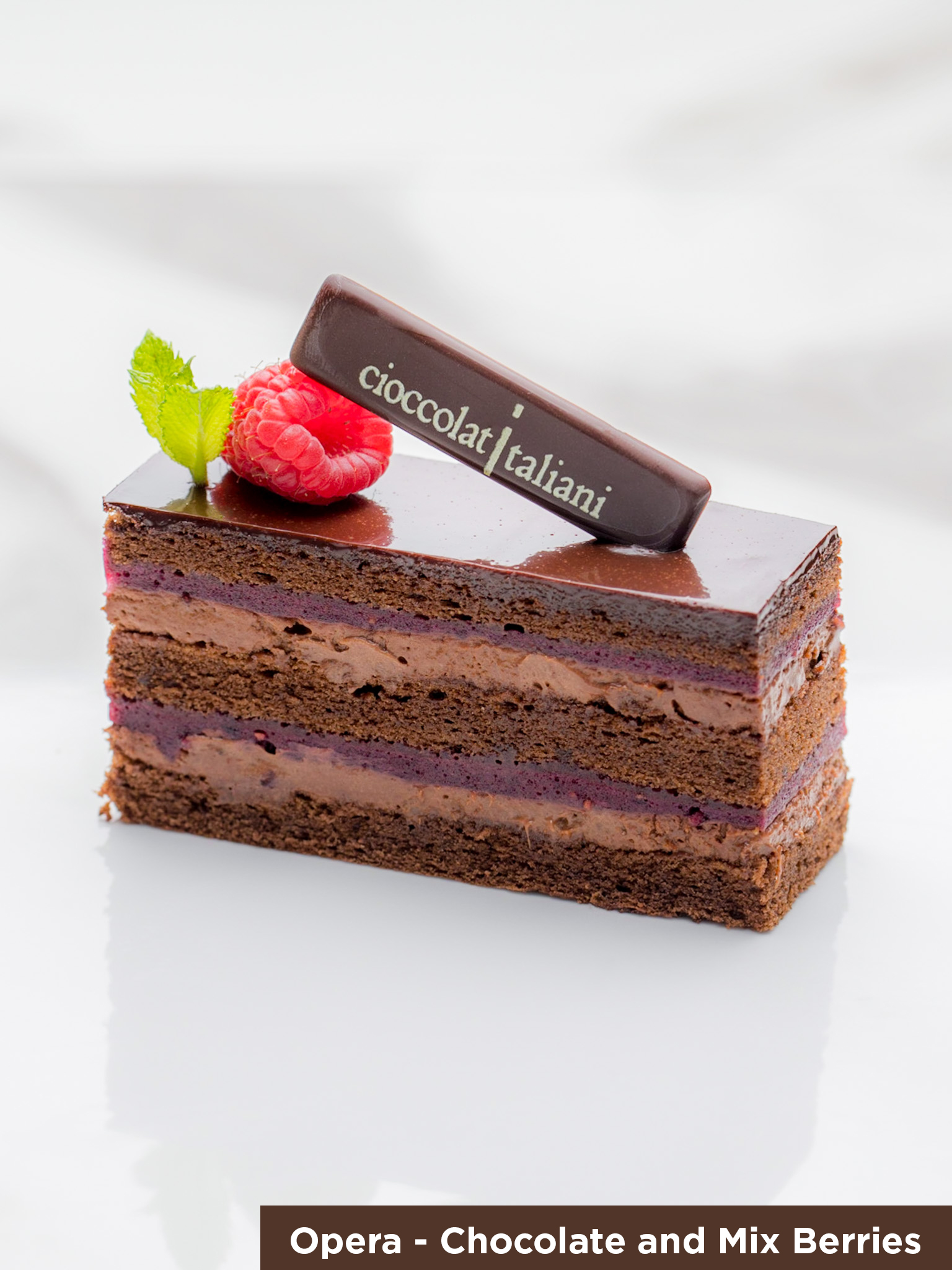Chocolate & Mix Berries Opera