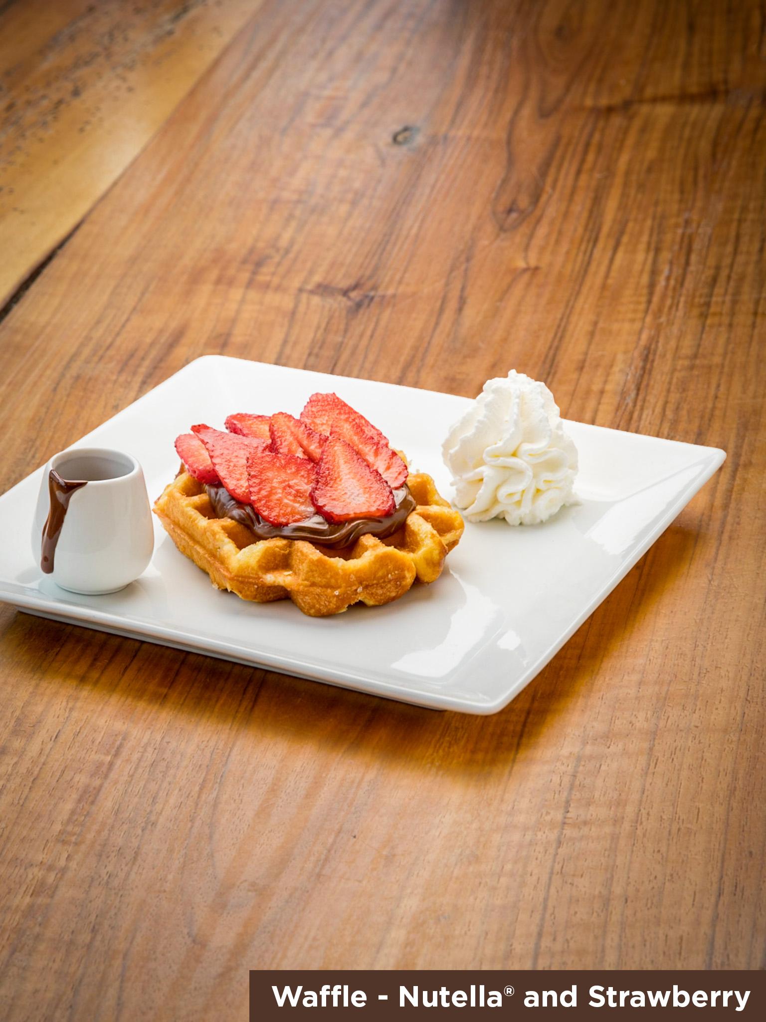 Waffle Nutella & Strawberry