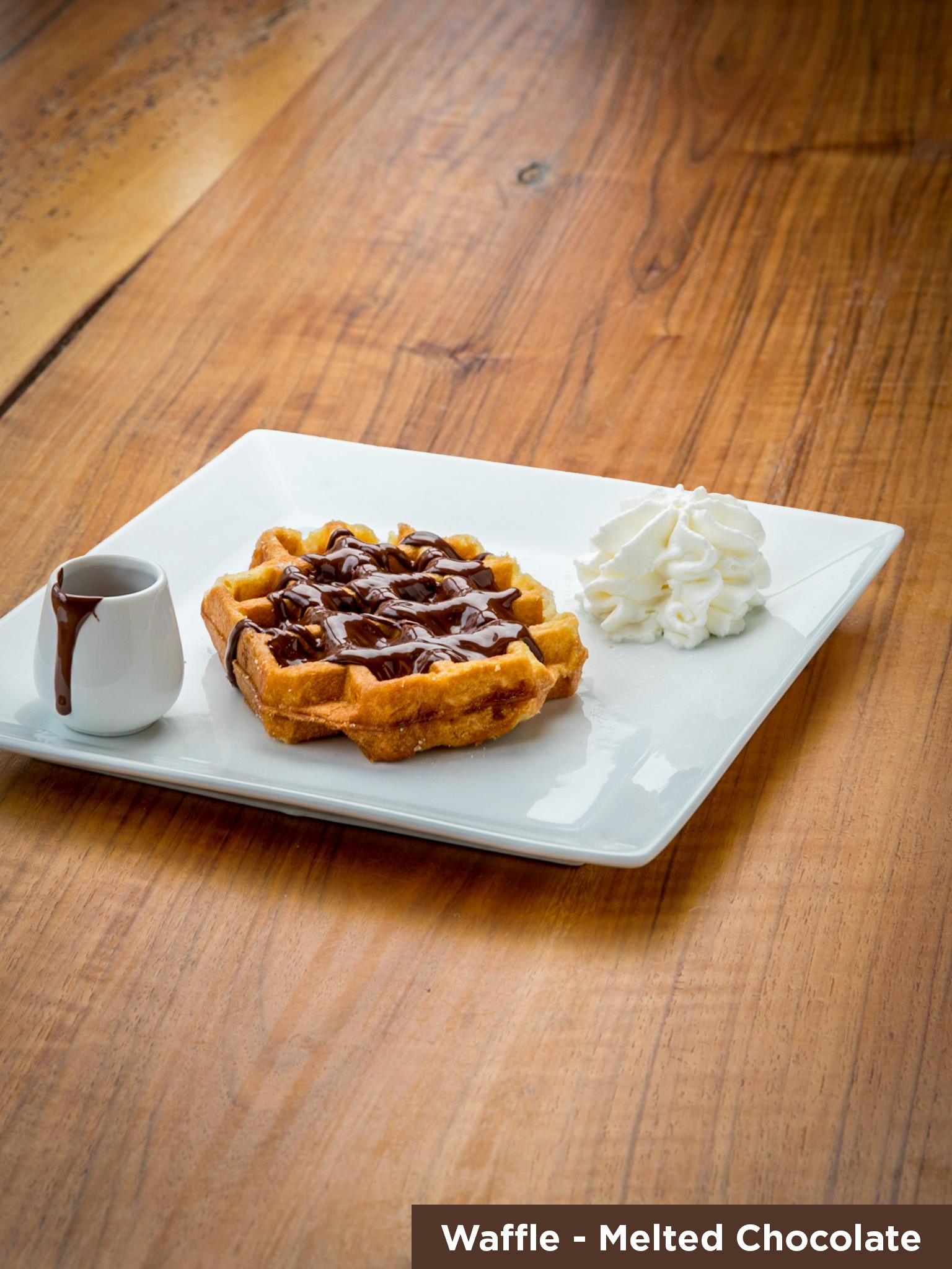Waffle Melted Chocolate